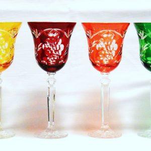 Kieliszki do wina ze szkła kryształowego